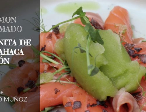 Smoked Salmon with Lemon Basil Granita Recipe (Video in Spanish)