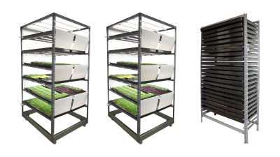 Urban farming growing system pack containing two cultivators and one germinator