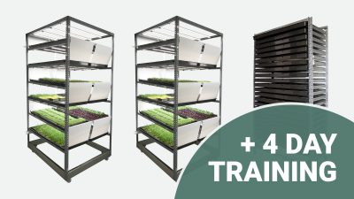 Cultivation pack: 2 grow system + 1 germinator + 4 day training