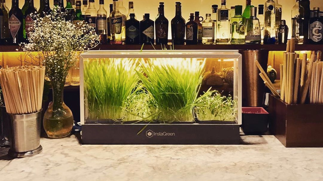 InstaGreen display on a bar