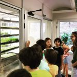 Tour in the InstaGreenHouse for children - showing the future of food cultivation